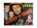 Mr Moto Takes a Chance - Lobby Card Reproduction