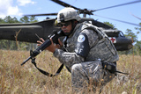 US Army Soldier Provides Security During a Medical Evacuation