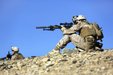 US Marines Provide Security During a Patrol in Afghanistan