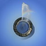 Planet with Water Fountain  Geneva  Switzerland