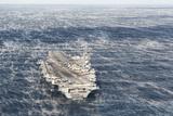 Uss George HW Bush Sails in the Atlantic Ocean