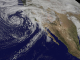 Satellite View of a Swirling Eastern Pacific Ocean Storm System