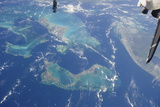 View from Space Featuring the Bahama Islands and Part of Peninsular Florida