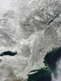 Satellite View of Snow Cover in the Northeastern United States