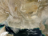 A Dust Storm Stretching from the Coast of Pakistan to the Strait of Hormuz