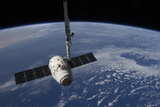 The Spacex Dragon Cargo Craft Prior to Being Released by the Canadarm2 Robotic Arm