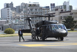 A Uh-60 Blackhawk Landing at Hardy Barracks in Tokyo  Japan