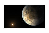 Artist's Concept of Kepler-186F Orbiting a Distant Star