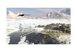 A Receding Glacial Scene Circa 18 000 Years Ago