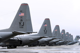C-130 Hercules on the Flightline at Yokota Air Base  Japan