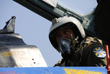 A Pilot with the Ukraine Air Force Prepares for an Exercise