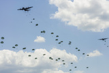 A C-130 Hercules Drop US Army Airborne Troops over Maryland