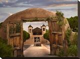 Church and gate  El Santuario de Chimayo  New Mexico