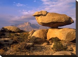 Balanced rocks  Guadalupe Mountain National Park  Texas