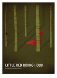 Le petit chaperon rouge Reproduction d'art par Christian Jackson