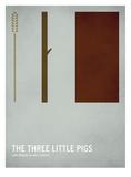 Les trois petits cochons Reproduction d'art par Christian Jackson