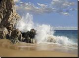 Lover's Beach with crashing waves  Cabo San Lucas  Mexico