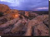 Rocky outcroppings in El Malpais National Monument  New Mexico