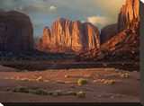 Camel Butte rising from the desert floor  Monument Valley  Arizona