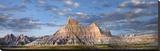 Landscape showing erosional features in sandstone  Badlands National Park  South Dakota
