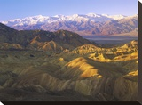 Panamint Range from Zabriskie Point  Death Valley National Park  California
