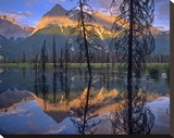 Chancellor Peak reflected in lake  Yoho National Park  BC  Canada