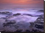 Ocean and lava rocks at sunset  Pu'uhonua  Hawaii