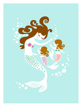 Mermaid Daughters Reproduction d'art par The Paper Nut