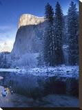 El Capitan and Merced River in winter  Yosemite National Park  California