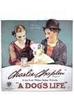 A Dog's Life Movie Charlie Chaplin Edna Purviance Poster Print
