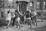 Children Playing Ring around a Rosie in One of the Better Neighborhoods of the Black Belt
