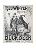 Geo Winter Brewing Co Bock Beer Brewery 55th St Betw 2 and 3 Ave