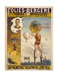 Folies-Bergere Travail Merveilleux Sur Le Fil de Fer Par Fon