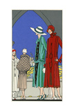 Three Ladies in Outfits by Molyneux and Martial Et Armand