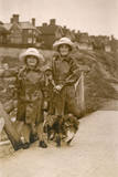 Two Girls and a Dog  Westgate on Sea  Kent