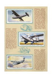 Page from an Album of International Air Liners for Cigarette Cards