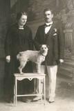 Studio Portrait  Couple with Dog