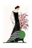 Young Lady in Black Evening Dress by Jeanne Lanvin