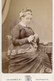 Victorian Lady Knitting