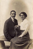 Couple with Havanese