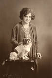 Woman with Pekingese