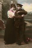 WW1 Postcard Couple