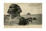 Sphinx and Pyramids  Giza  Egypt