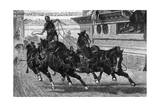 Ancient Roman Charioteer Driving Four Horses