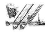 Paris  France - La Tour Eiffel  Otis Elevators