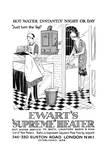 Advert for Ewart's Geyser Hot Water 1928