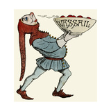Jester Carrying a Wassail Bowl
