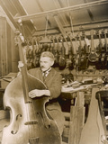 Stringed Instrument Maker in His Workshop