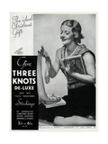 Advert for Three Knots De-Luxe Stockings 1934