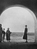 Gertrude Bell Looking Out into the Desert - Iraq